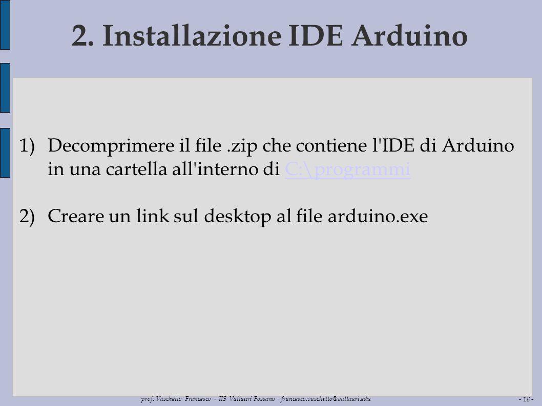 2. Installazione IDE Arduino