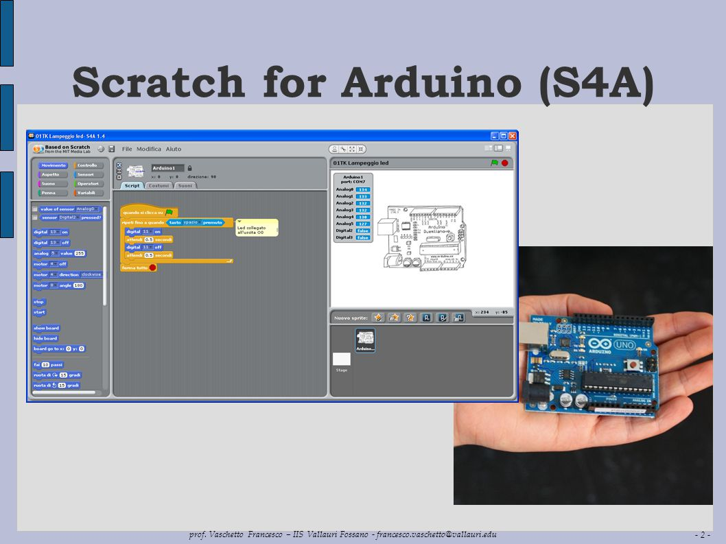 Scratch for Arduino (S4A)