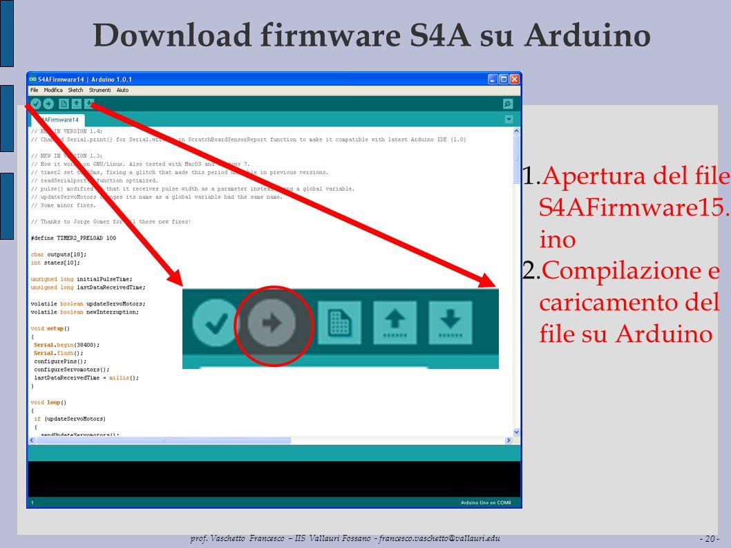 Download firmware S4A su Arduino