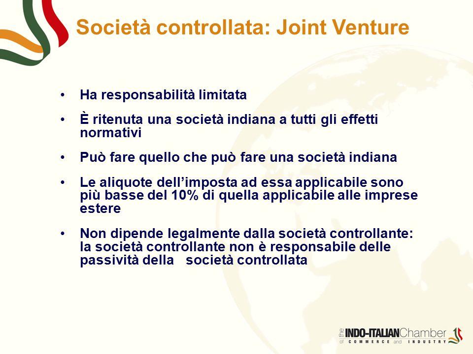Società controllata: Joint Venture