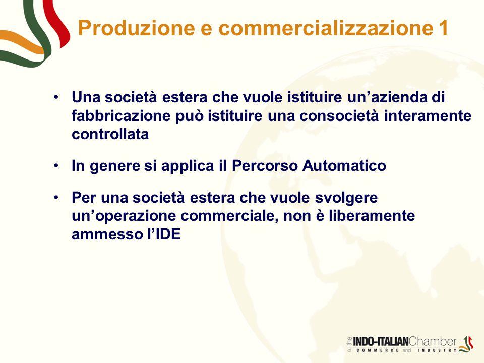 Produzione e commercializzazione 1