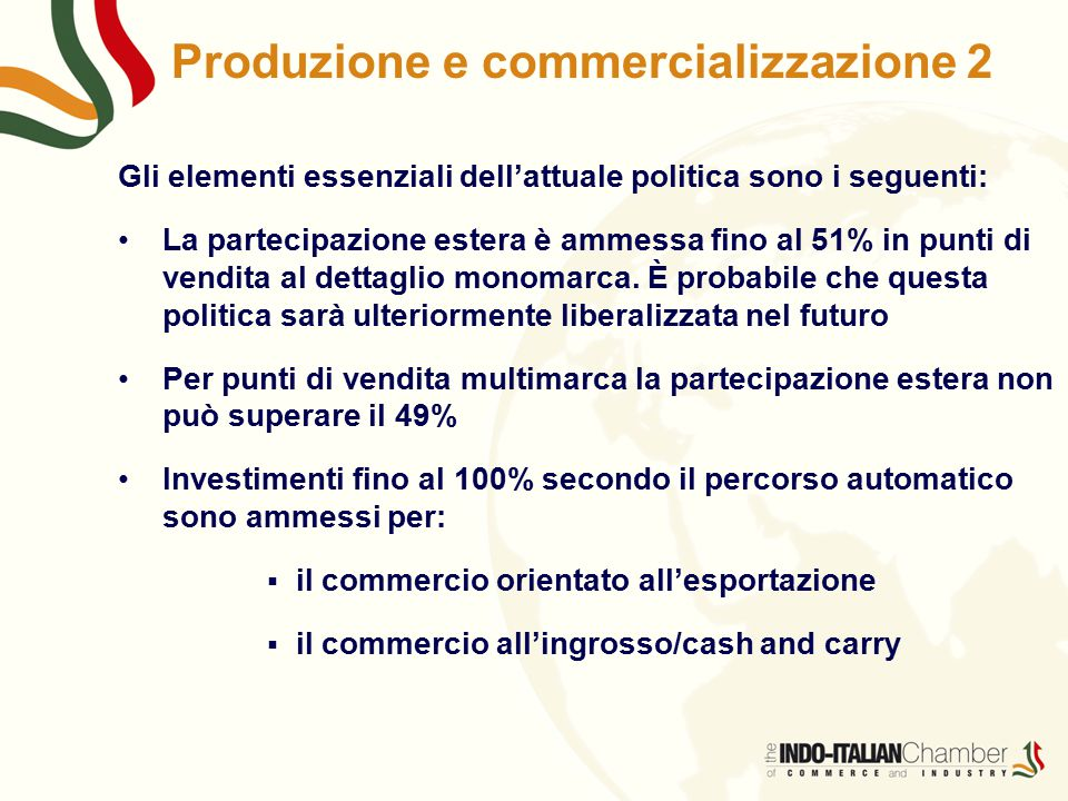 Produzione e commercializzazione 2