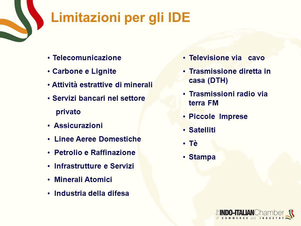 Limitazioni per gli IDE