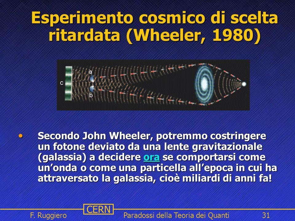 Esperimento cosmico di scelta ritardata (Wheeler, 1980)