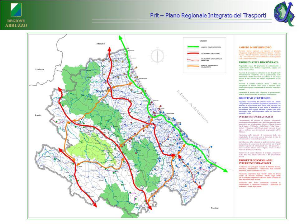 Prit – Piano Regionale Integrato dei Trasporti