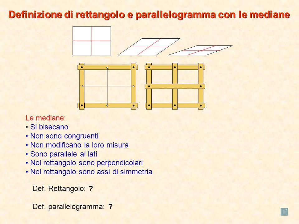Definizione di rettangolo e parallelogramma con le mediane