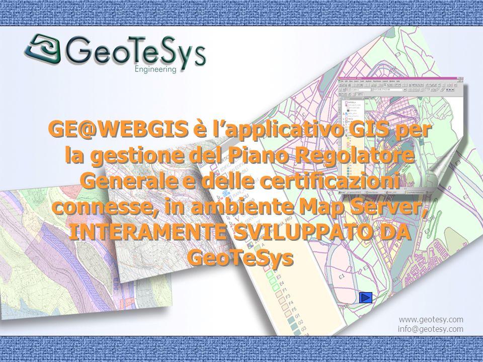 INTERAMENTE SVILUPPATO DA GeoTeSys