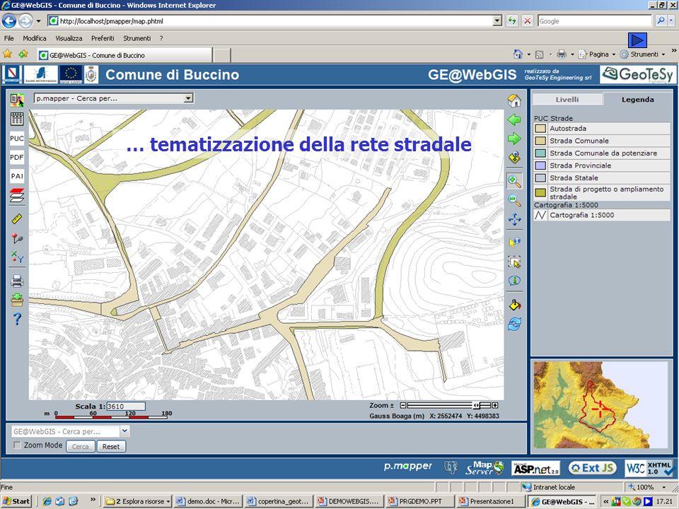 … tematizzazione della rete stradale