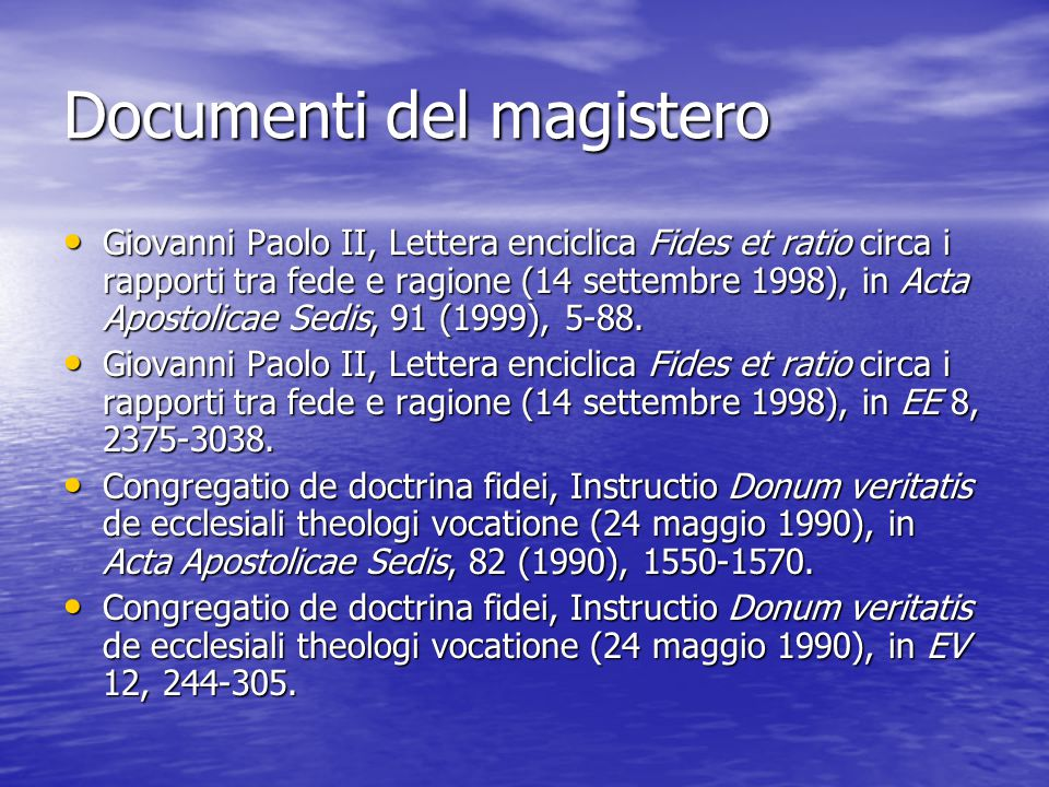 Documenti del magistero