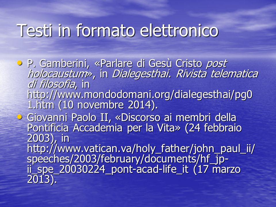 Testi in formato elettronico