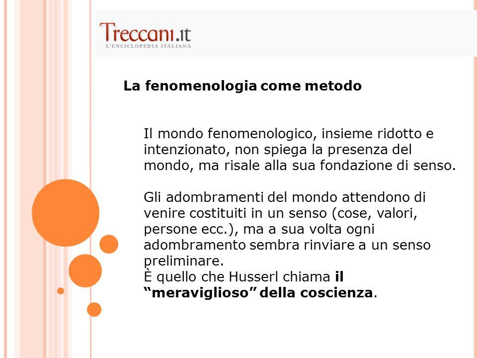La fenomenologia come metodo