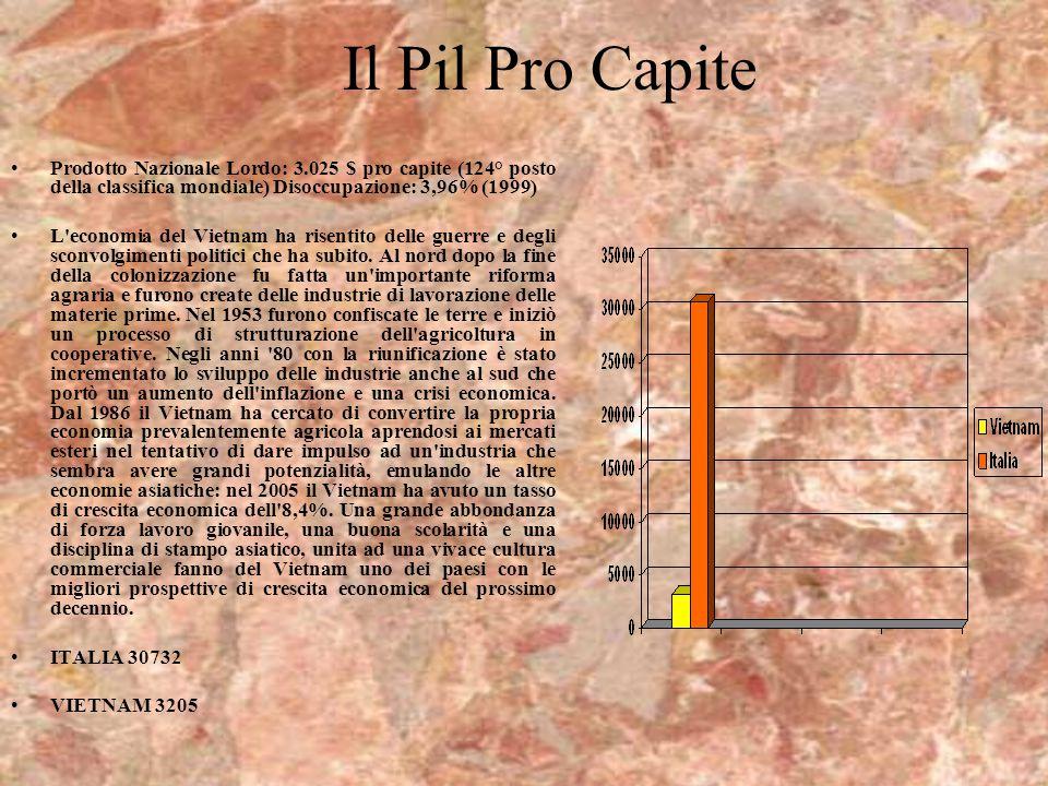 Il Pil Pro Capite Prodotto Nazionale Lordo: 3.025 $ pro capite (124° posto della classifica mondiale) Disoccupazione: 3,96% (1999)
