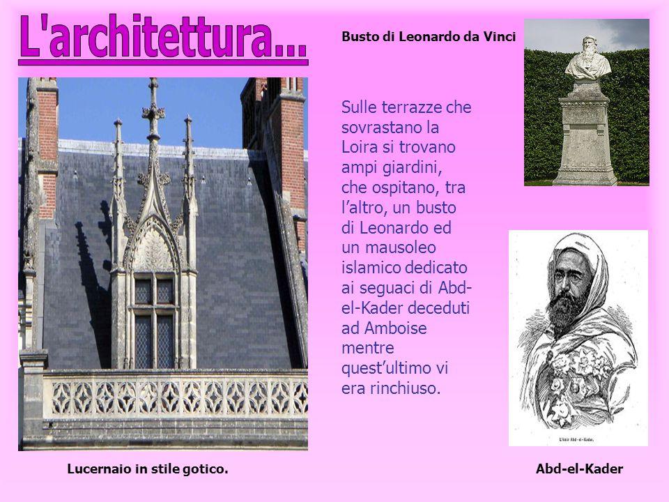 L architettura... Busto di Leonardo da Vinci.