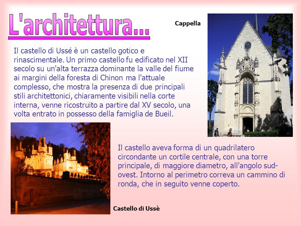 L architettura... Cappella.