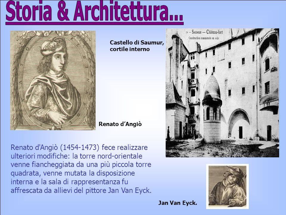 Storia & Architettura... Castello di Saumur, cortile interno. Renato d'Angiò.