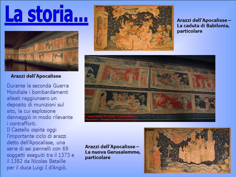 La storia... Arazzi dell'Apocalisse – La caduta di Babilonia, particolare. Arazzi dell'Apocalisse.