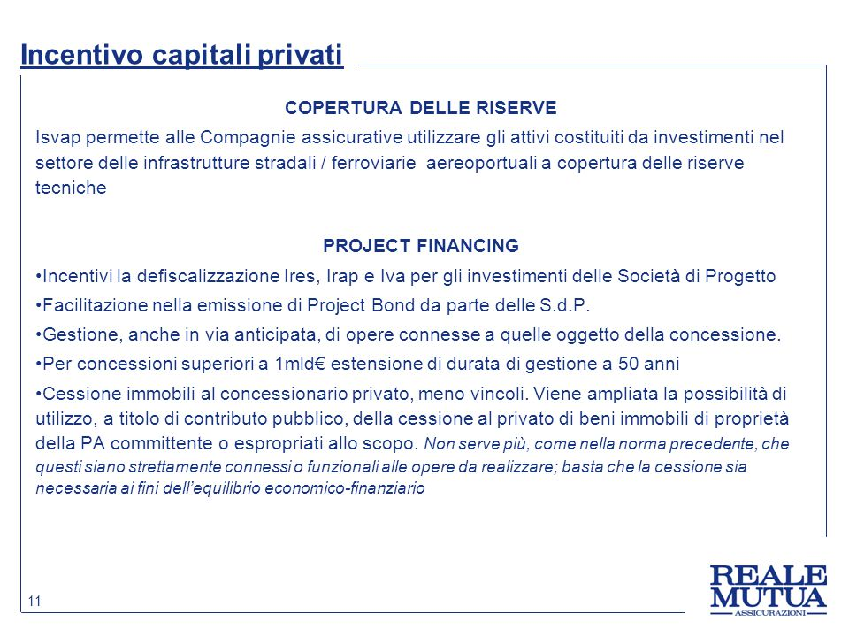Incentivo capitali privati