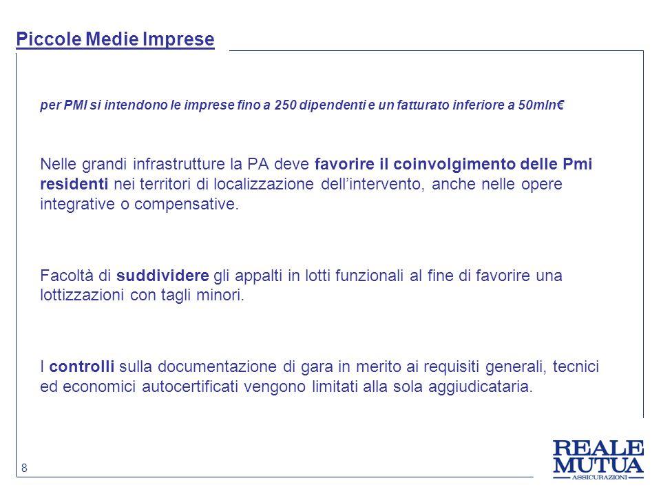 Piccole Medie Imprese per PMI si intendono le imprese fino a 250 dipendenti e un fatturato inferiore a 50mln€