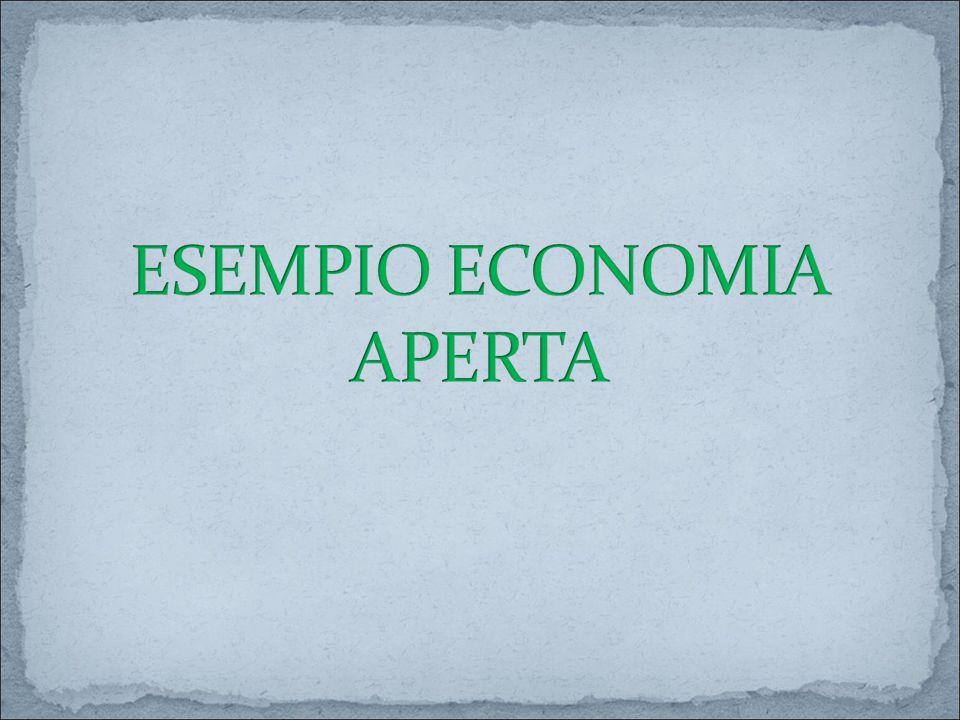 ESEMPIO ECONOMIA APERTA