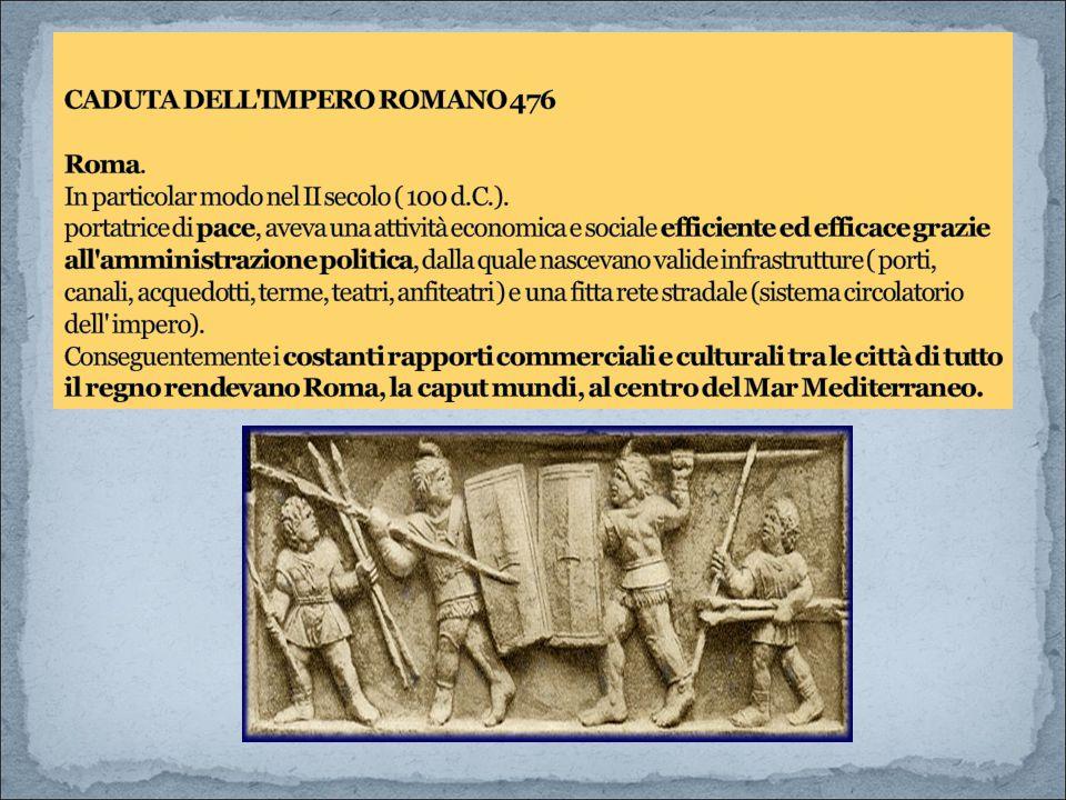 CADUTA DELL IMPERO ROMANO 476 Roma