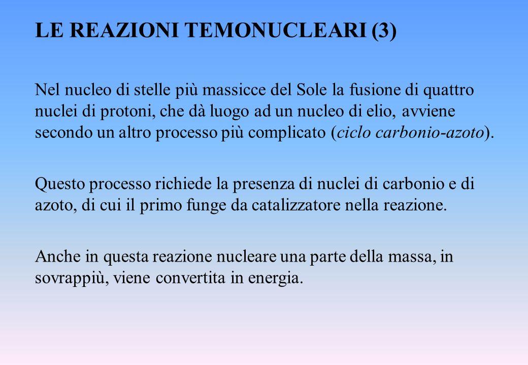 LE REAZIONI TEMONUCLEARI (3)