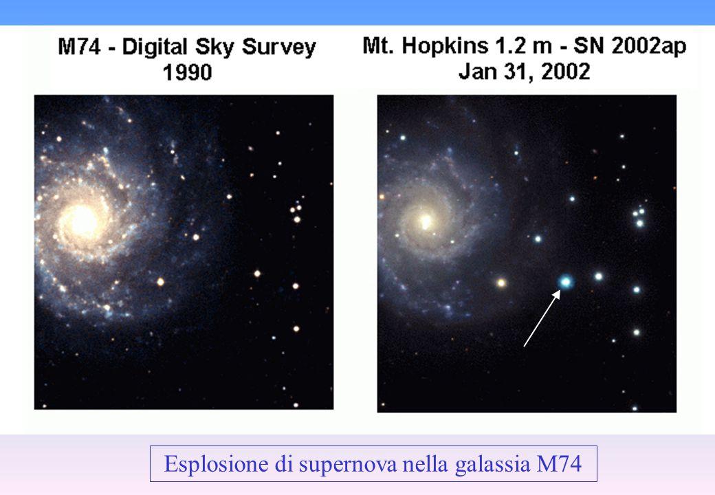 Esplosione di supernova nella galassia M74