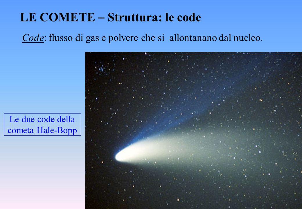 Le due code della cometa Hale-Bopp