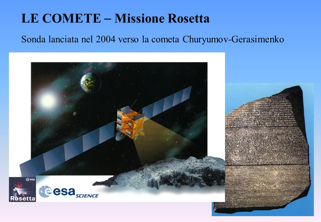 Sonda lanciata nel 2004 verso la cometa Churyumov-Gerasimenko