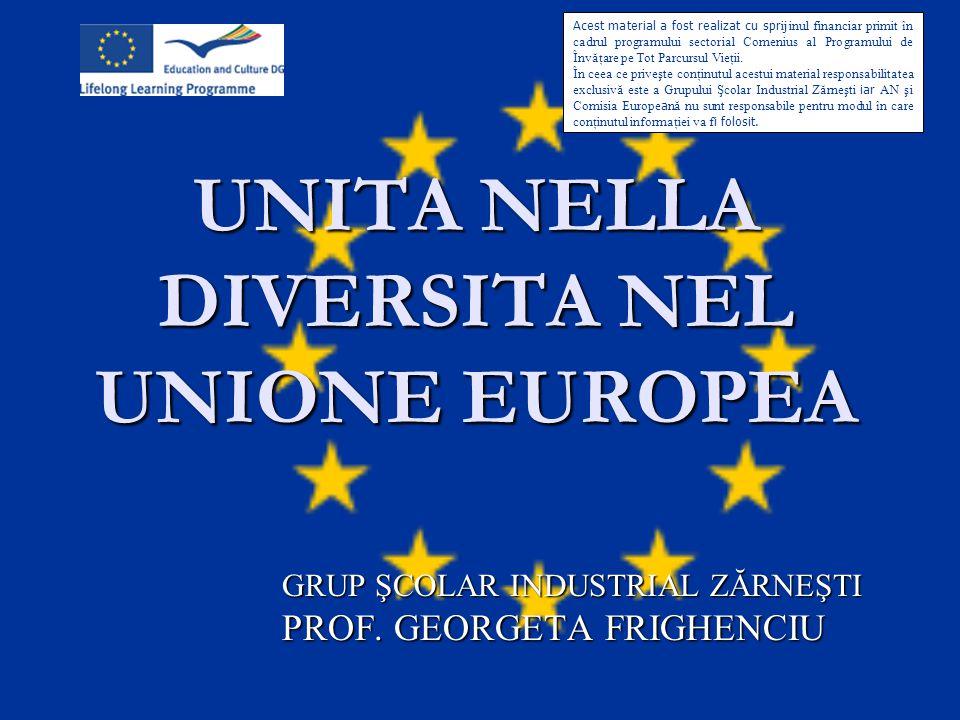 UNITA NELLA DIVERSITA NEL UNIONE EUROPEA
