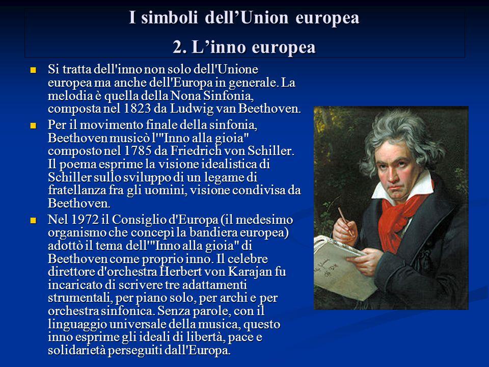 I simboli dell'Union europea 2. L'inno europea
