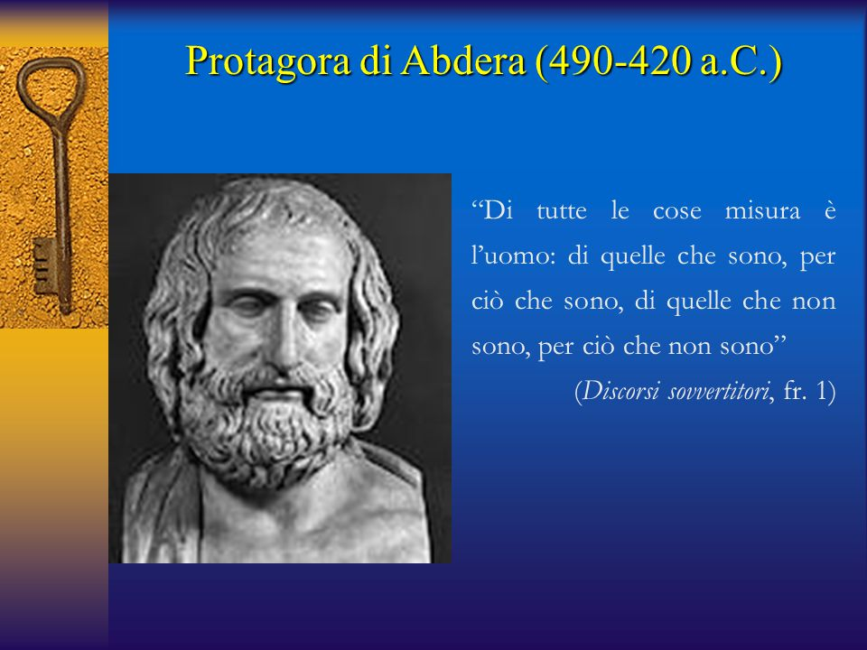 Protagora di Abdera (490-420 a.C.)