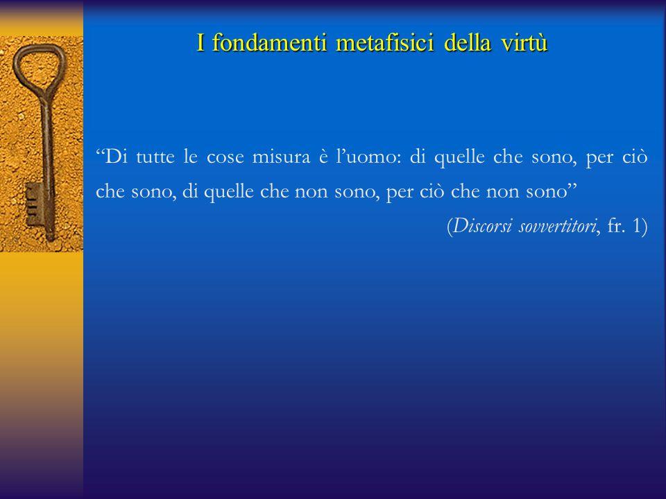 I fondamenti metafisici della virtù