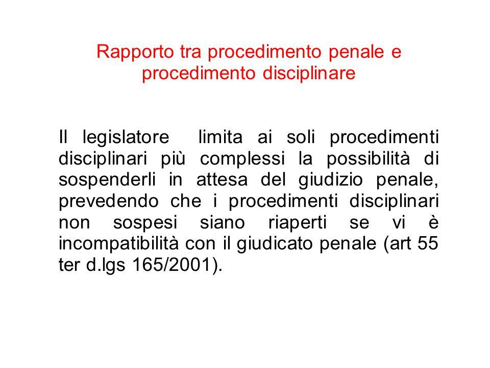 Rapporto tra procedimento penale e procedimento disciplinare