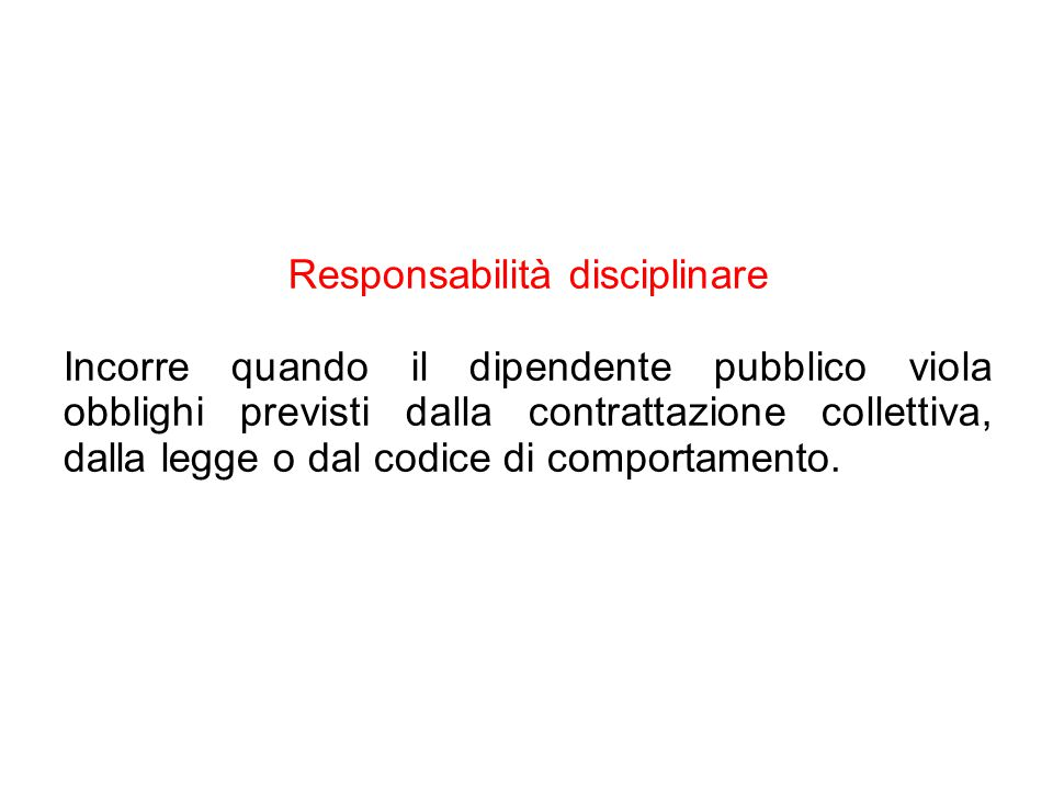 Responsabilità disciplinare