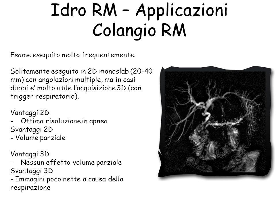Idro RM – Applicazioni Colangio RM