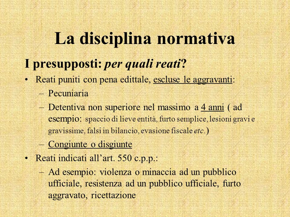 La disciplina normativa