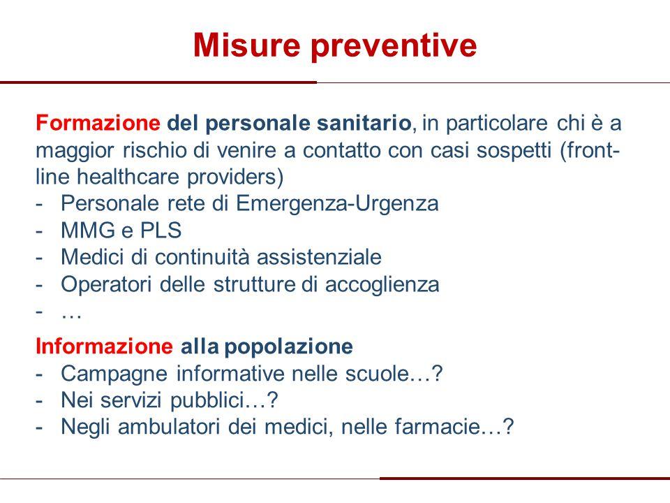 Misure preventive