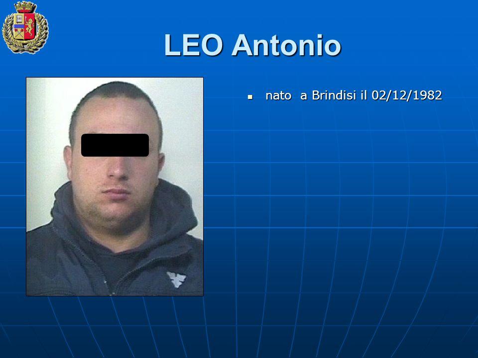 LEO Antonio nato a Brindisi il 02/12/1982