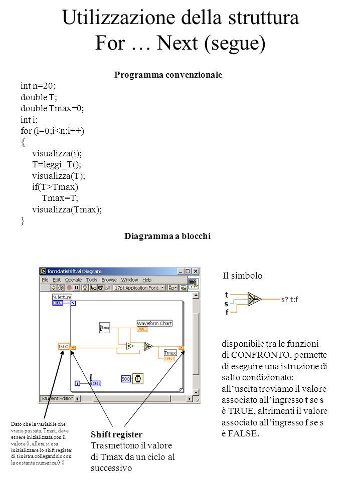 Utilizzazione della struttura For … Next (segue)