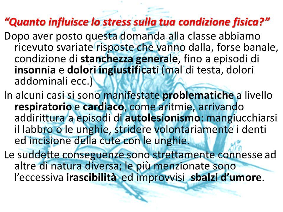 Quanto influisce lo stress sulla tua condizione fisica