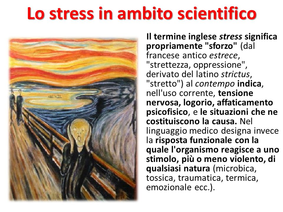 Lo stress in ambito scientifico