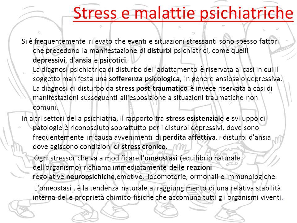 Stress e malattie psichiatriche