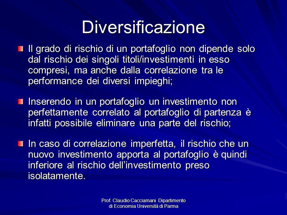 Prof. Claudio Cacciamani Dipartimento di Economia Università di Parma