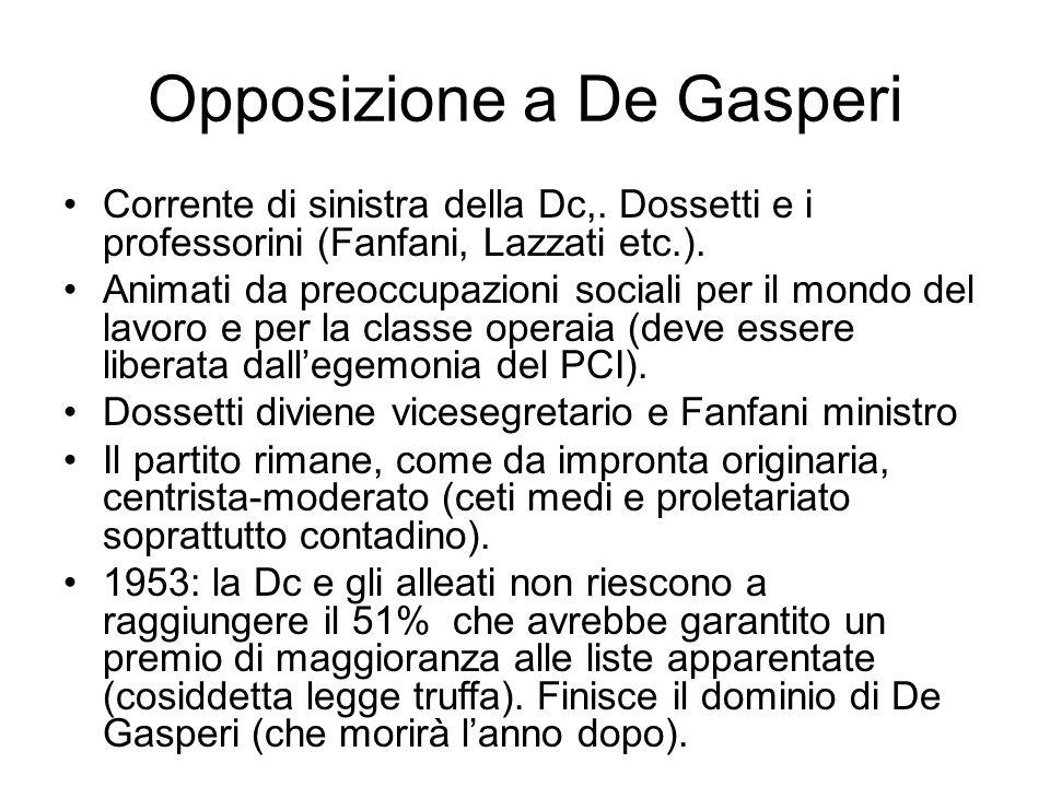 Opposizione a De Gasperi