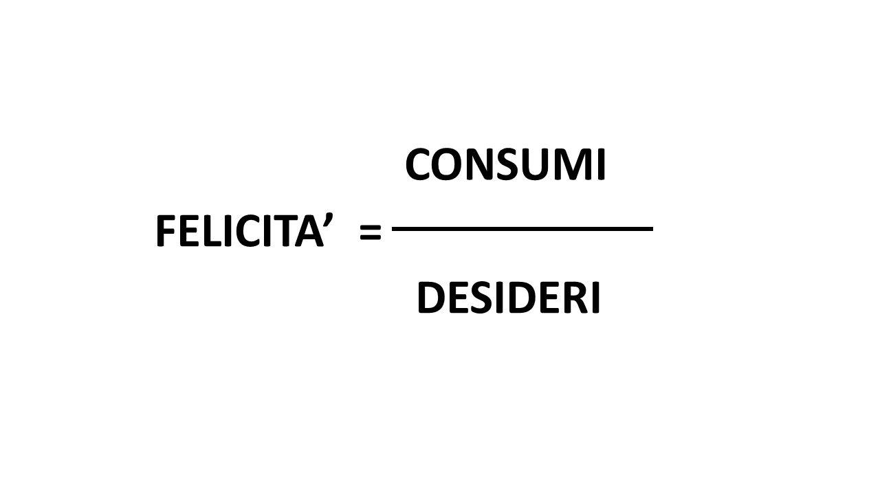 CONSUMI FELICITA' = DESIDERI