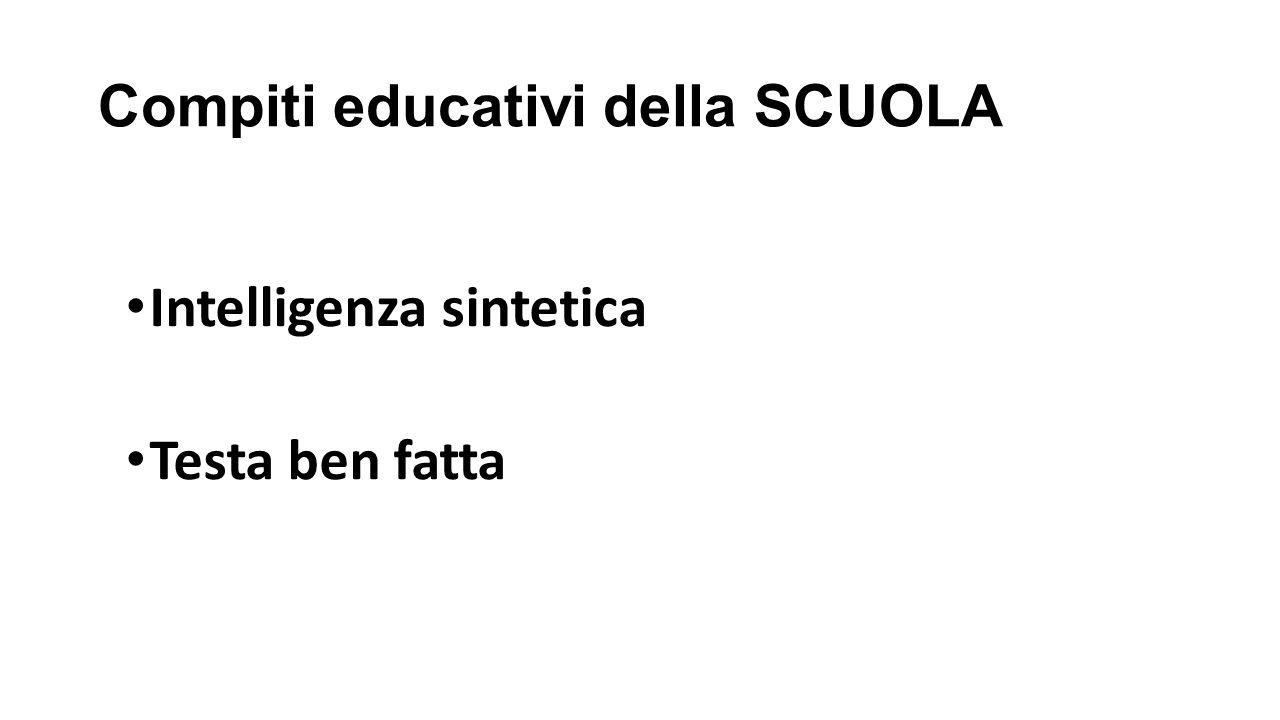 Compiti educativi della SCUOLA