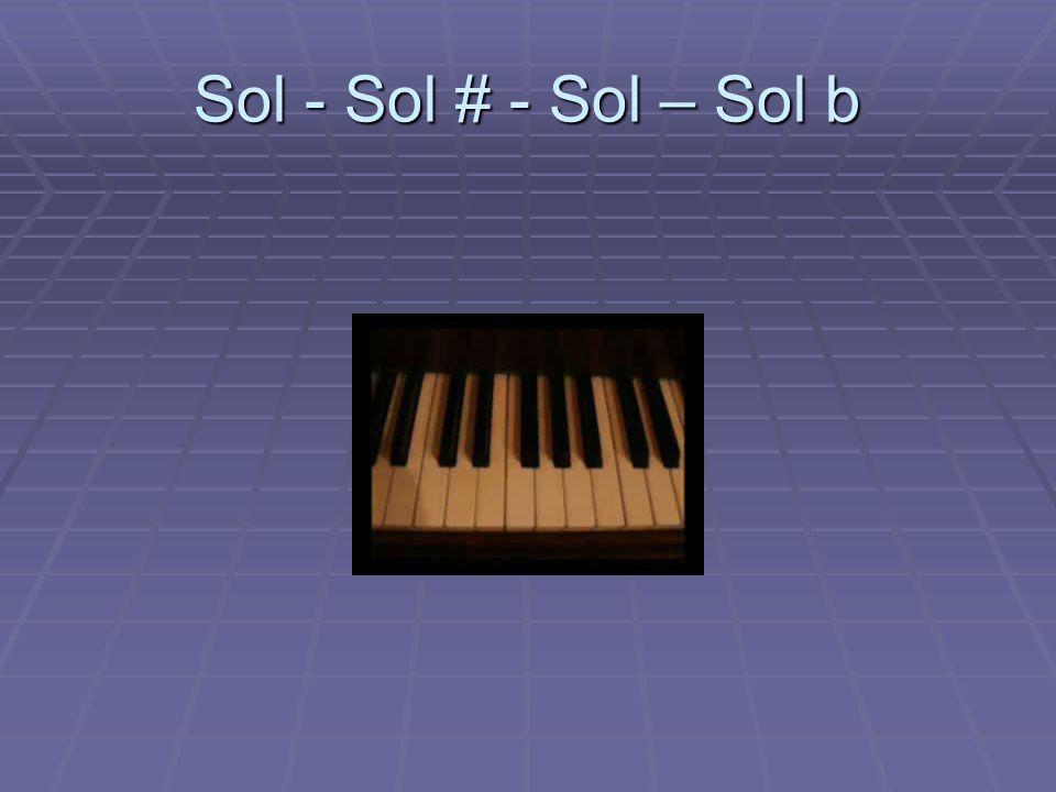 Sol - Sol # - Sol – Sol b