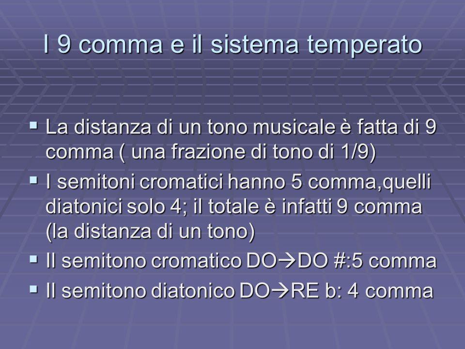 I 9 comma e il sistema temperato