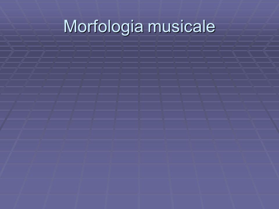 Morfologia musicale