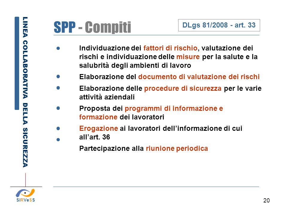 SPP - Compiti DLgs 81/2008 - art. 33